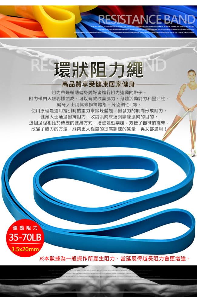 台灣製造70磅大環狀彈力帶  (LATEX乳膠阻力繩.手足阻力帶) 1
