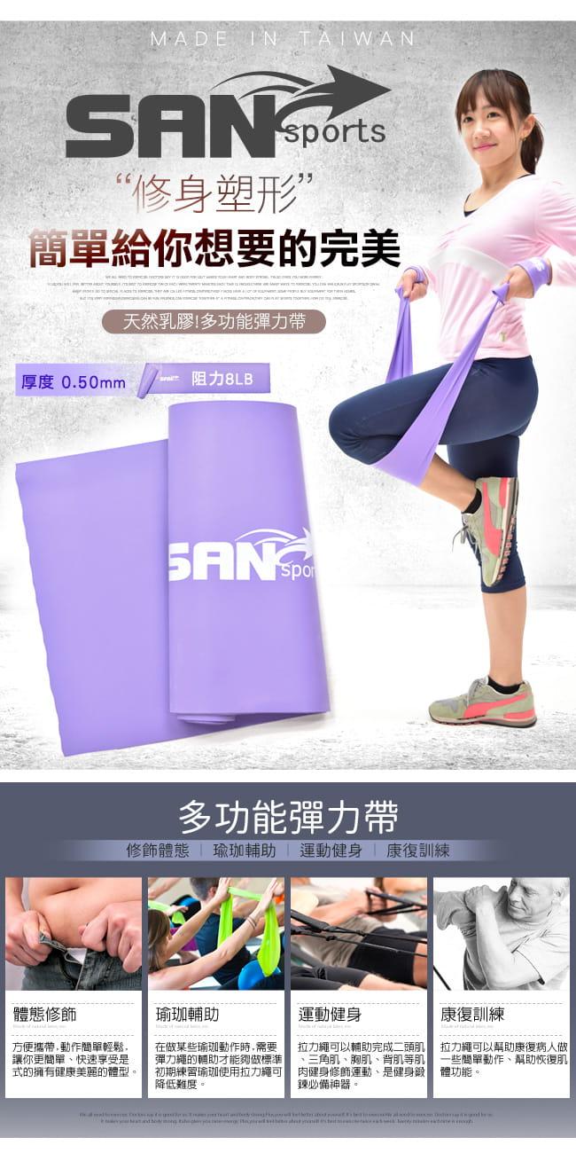 【SAN SPORTS】台灣製造8LB彼拉提斯帶   瑜珈帶彈力帶 1