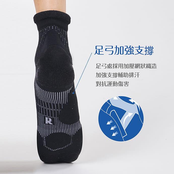 【GIAT】台灣製專利護跟類繃壓力消臭運動襪 7