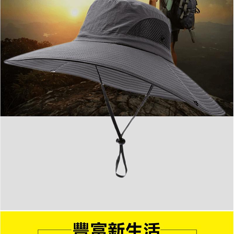 戶外防曬工地釣魚遮陽帽 12