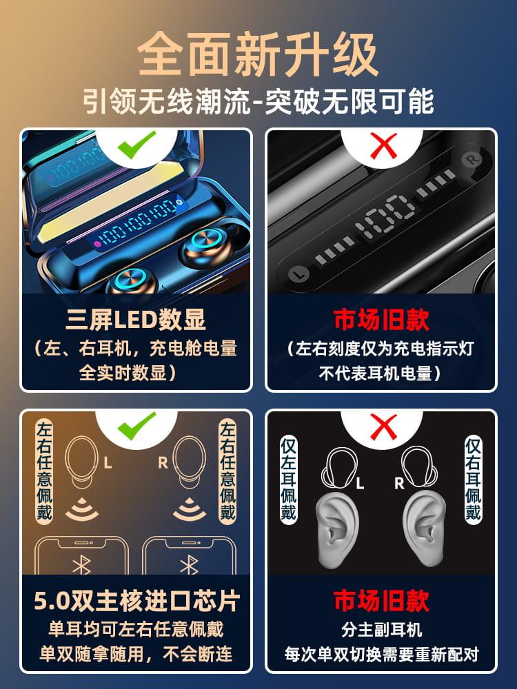 無線藍牙耳機雙耳運動跑步入耳式迷妳隱形5.1蘋果安卓通用超長待機 9
