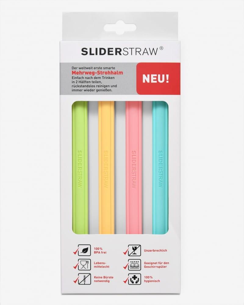 德國SLIDERSTRAW可拆式環保吸管矽膠4色組 4