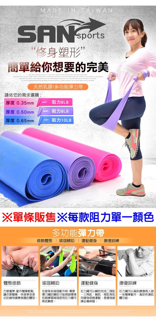 台灣製造 彼拉提斯帶+40D瑜珈磚(2入) 1