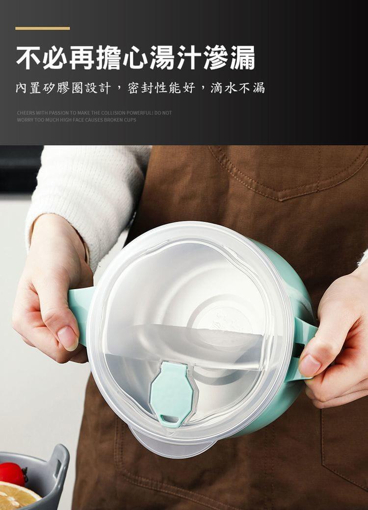 新304不鏽鋼瀝水泡麵碗 5