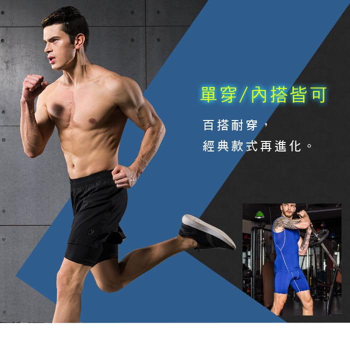【Un-Sport高機能】專業吸排男用緊身五分褲-超值二入組(路跑/健身/籃球) 5