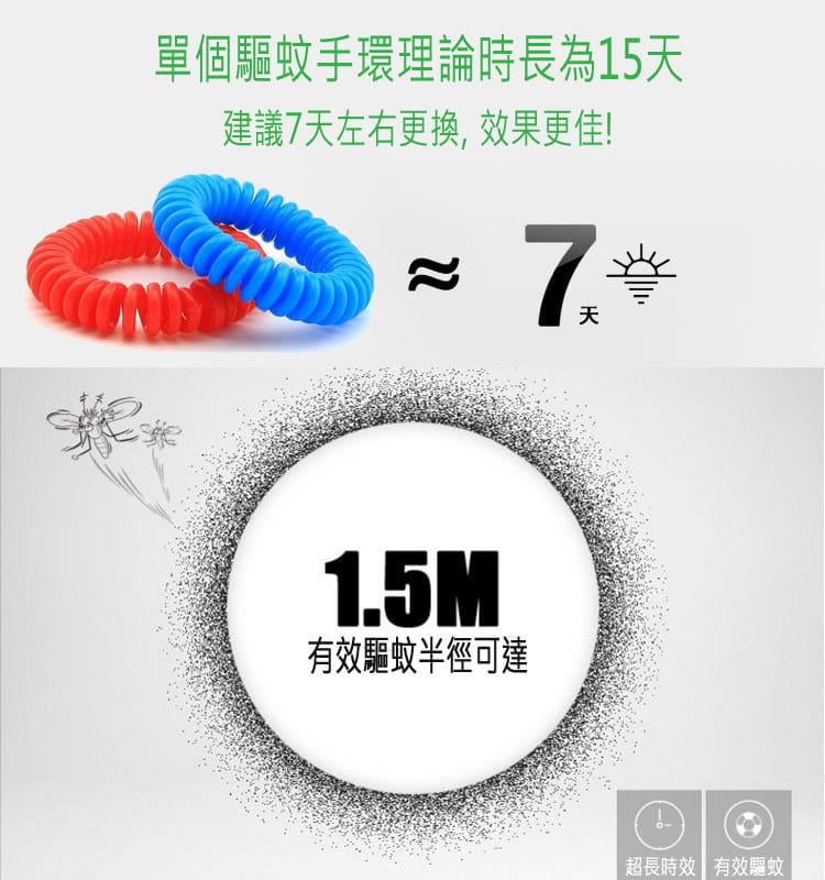 【JAR嚴選】純天然香茅圈式隨身驅蚊手環 (一組十入隨機出色) 4