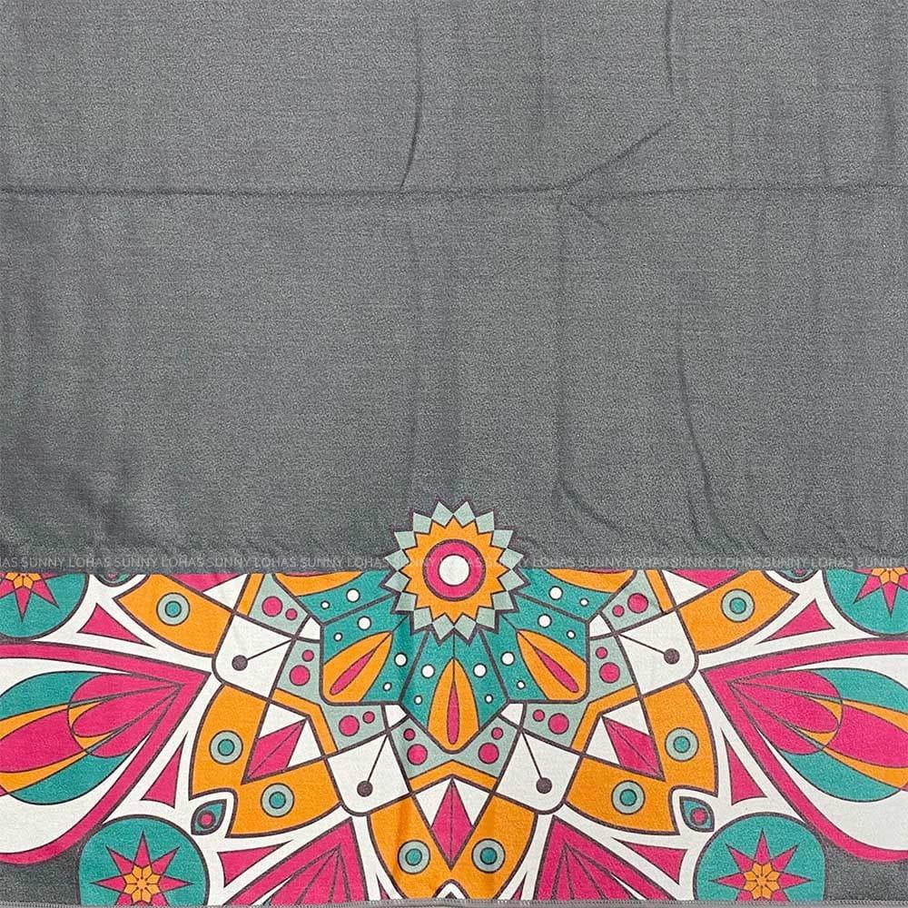 矽膠止滑瑜珈巾 瑜珈鋪巾 瑜珈墊 地墊 SNAY12灰 3