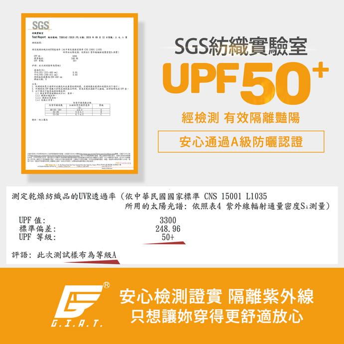 【GIAT】台灣製UV排汗機能壓力褲(撩心網美款) 5
