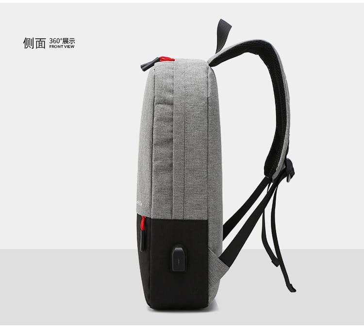 【JAR嚴選】防盜耐磨可充電式多功能雙肩電腦包 12