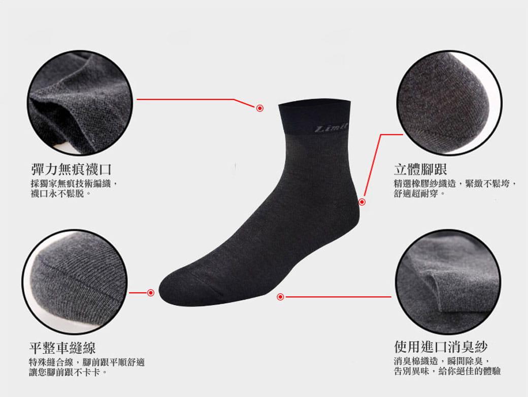 【力美特機能襪】極致短筒襪(黑) 3
