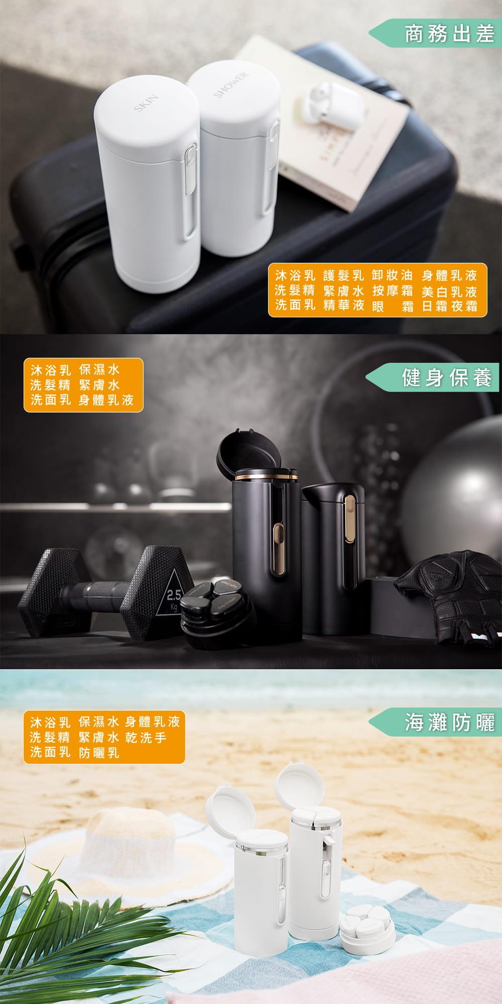 Tic Bottle 旅行分裝收納瓶 V2.0- 保養組 6