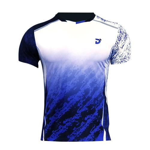 韓版晨曦羽球競技衫(男版)-白藍