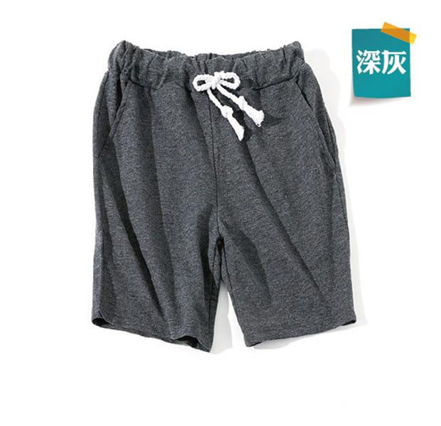 棉質休閒運動短褲 薄款透氣 抽繩男女款 舒適健身褲 12