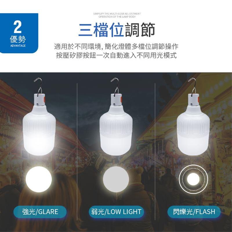 智能充電懸掛式LED燈泡20W 5