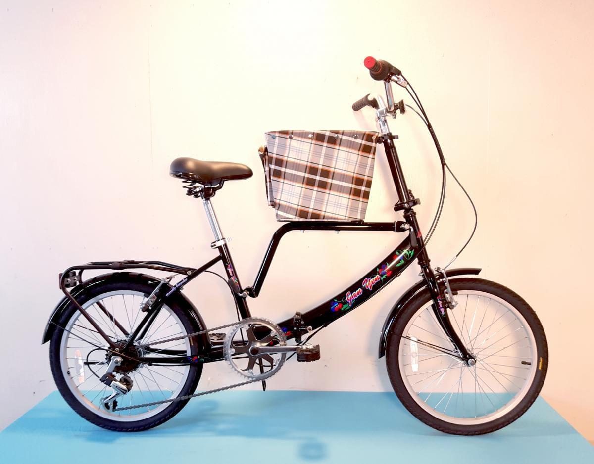 台製 20吋 6速 SHIMANO 摺疊 小籃 寵物腳踏車 3