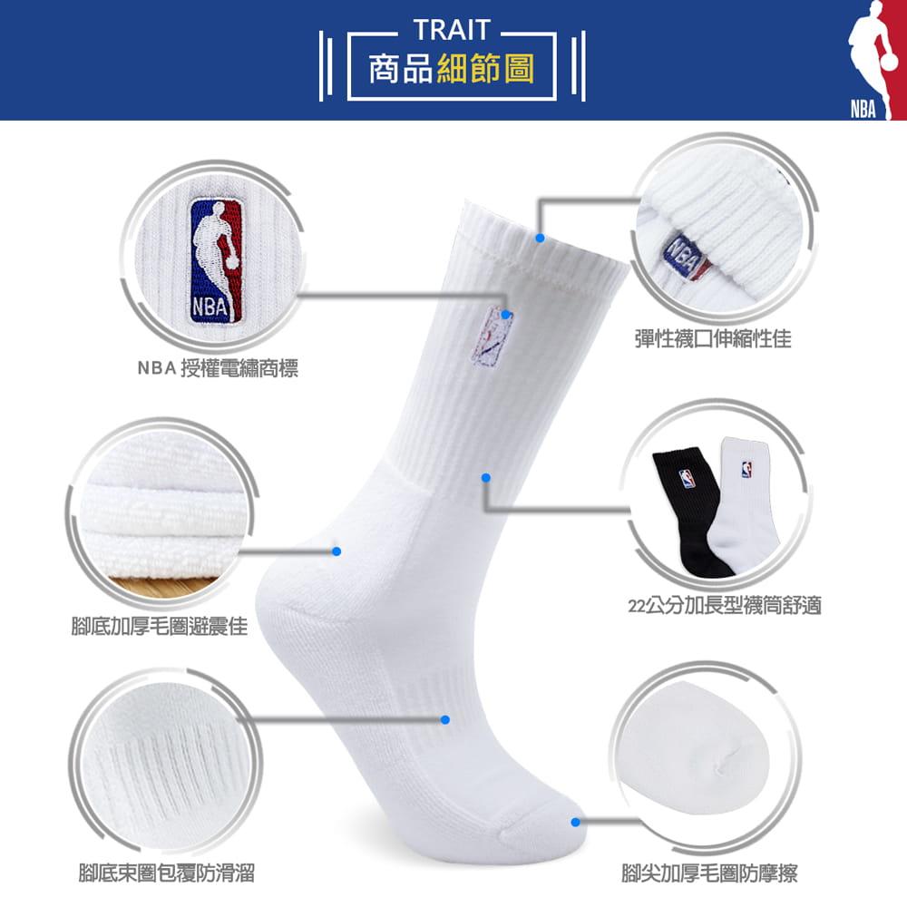 【NBA】 經典款全毛圈半毛圈刺繡長襪 4