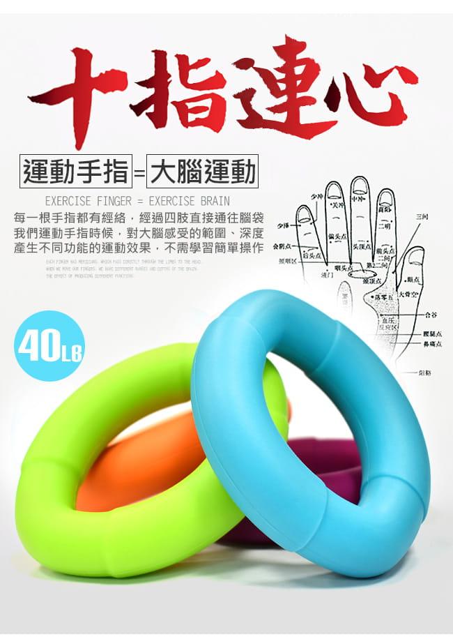 橢圓工學40LB握力圈   矽膠握力器握力環 3