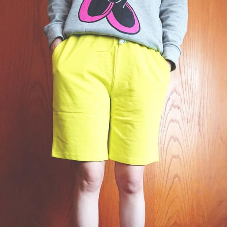 棉質休閒運動短褲 薄款透氣 抽繩男女款 舒適健身褲 7