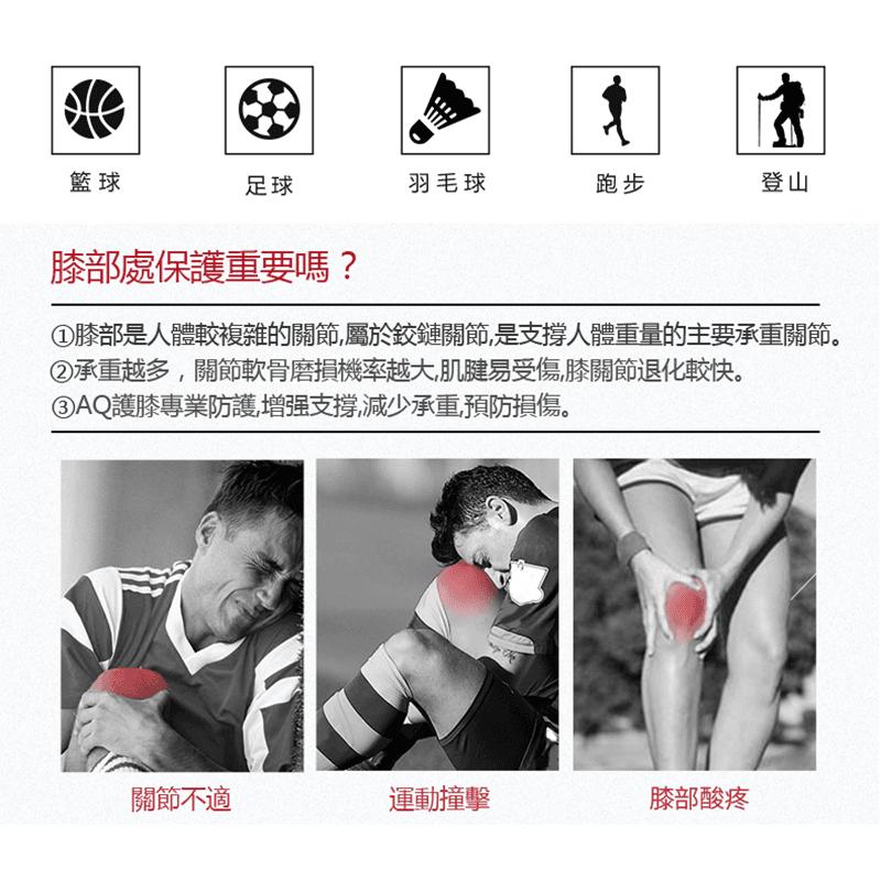 【AQ SUPPORT】AQ籃球抗衝擊強化護膝 1