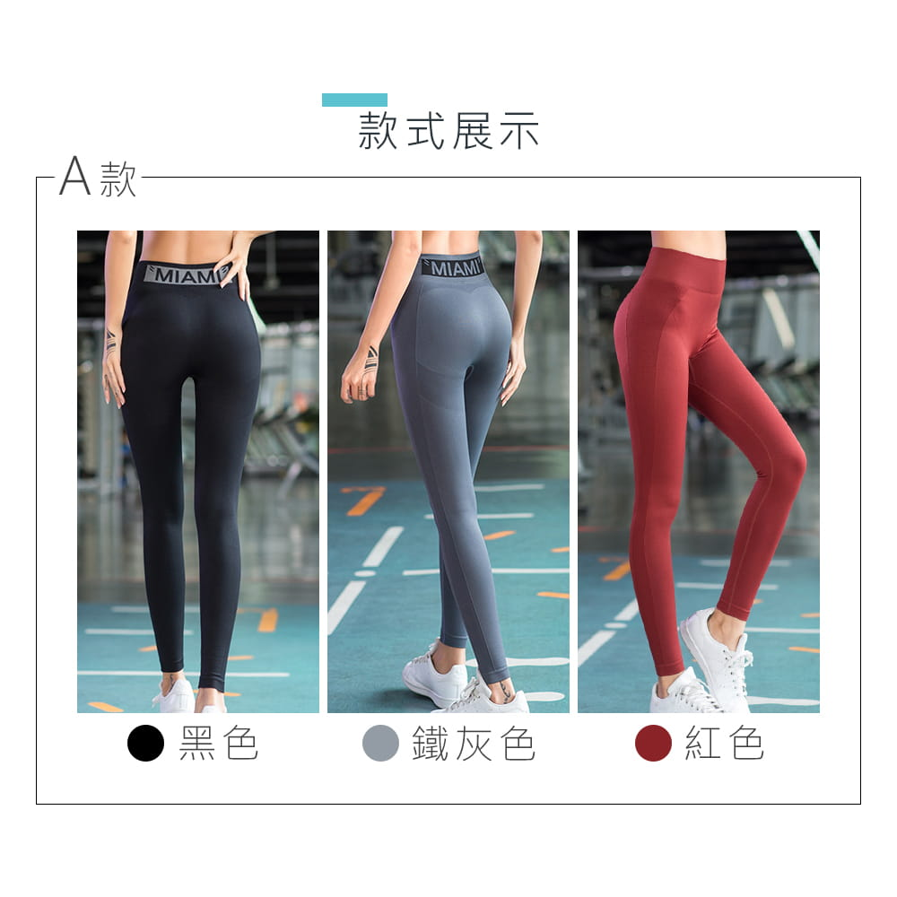 【NEW FORCE】高彈力瑜珈運動緊身褲-多款多色任選 5