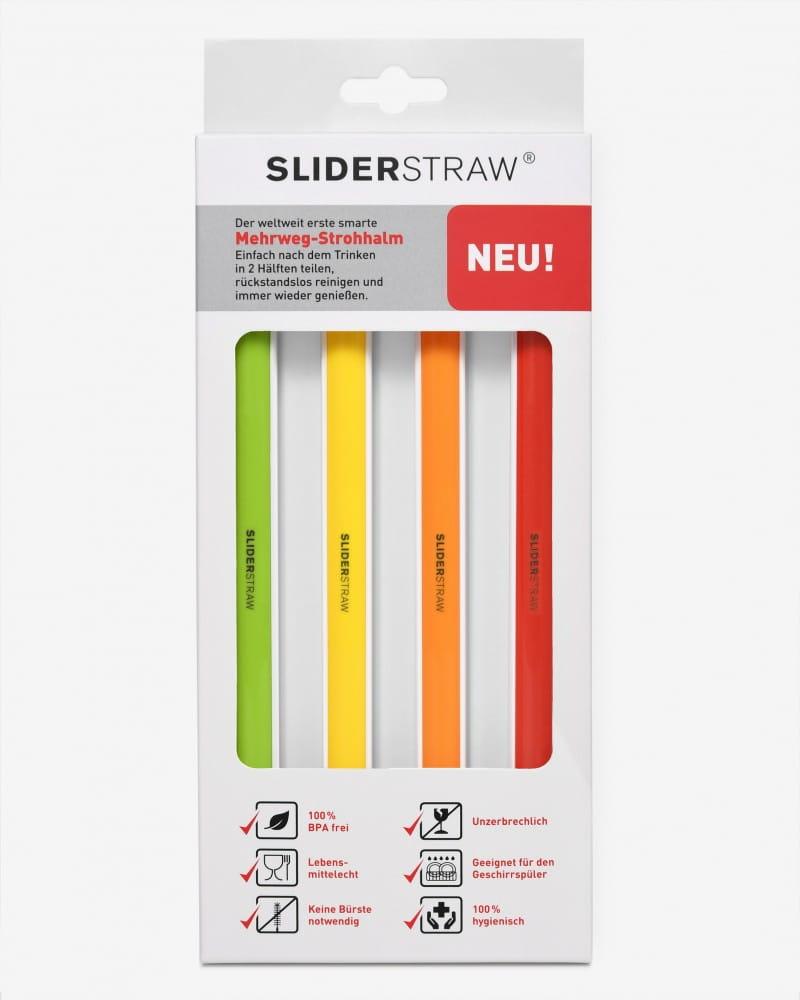 德國SLIDERSTRAW可拆式環保吸管 4色組21.5cm 5