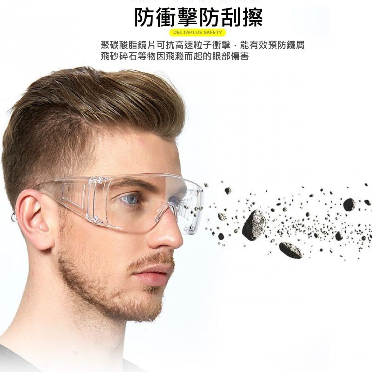 【英才星】台灣製防霧透明運動護目眼鏡 加贈眼鏡袋+眼鏡布 7