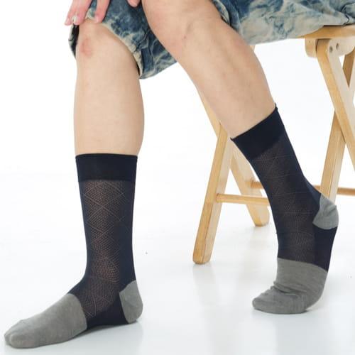 【KEROPPA可諾帕】奈米竹炭絲光棉紳士男襪x2雙C90006 1