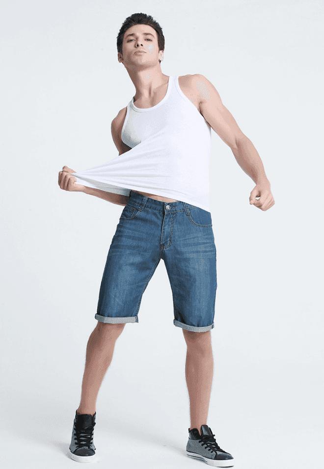 透氣100%純棉吸濕排汗男背心 10