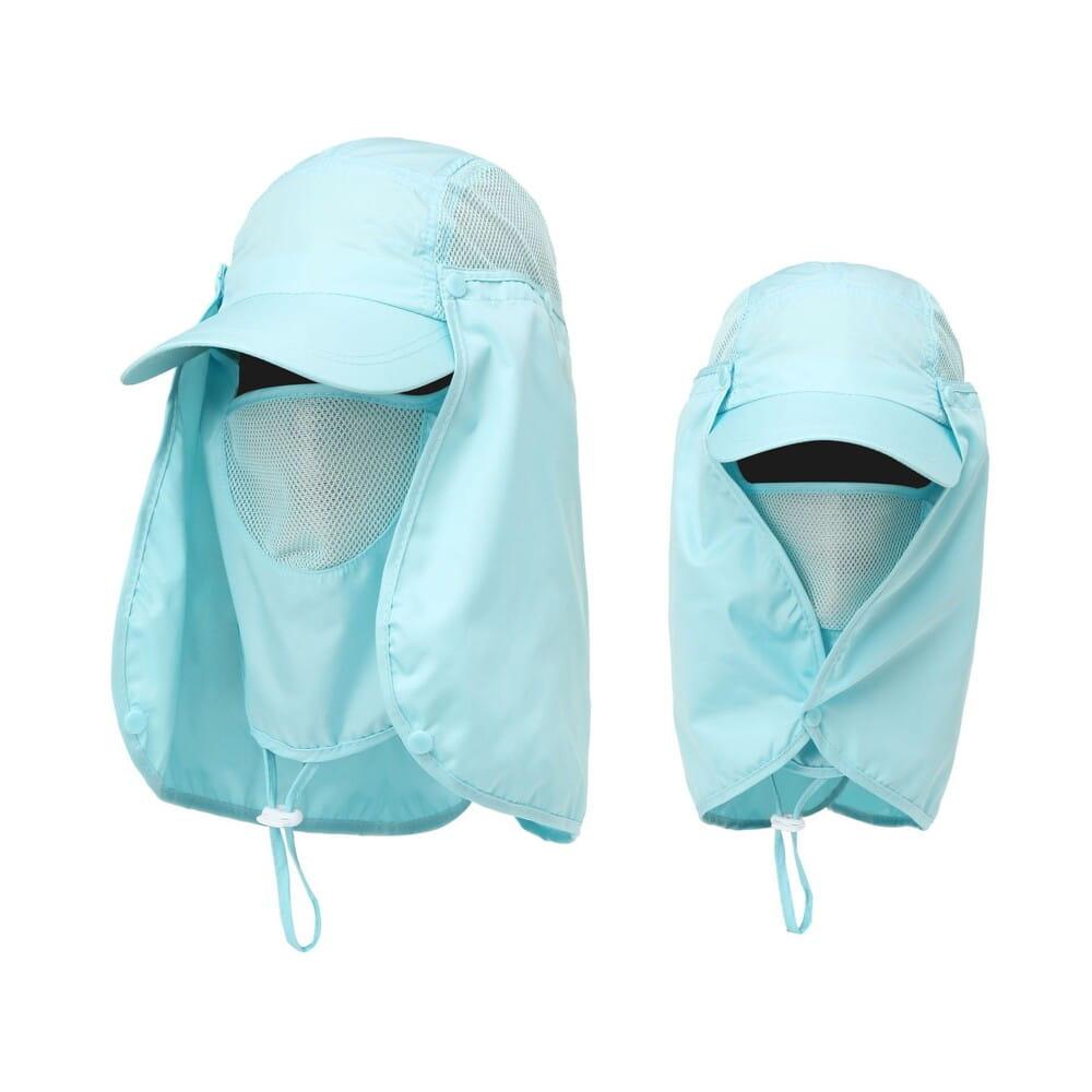 UPF50+抗UV高防曬速乾護頸遮陽帽 16