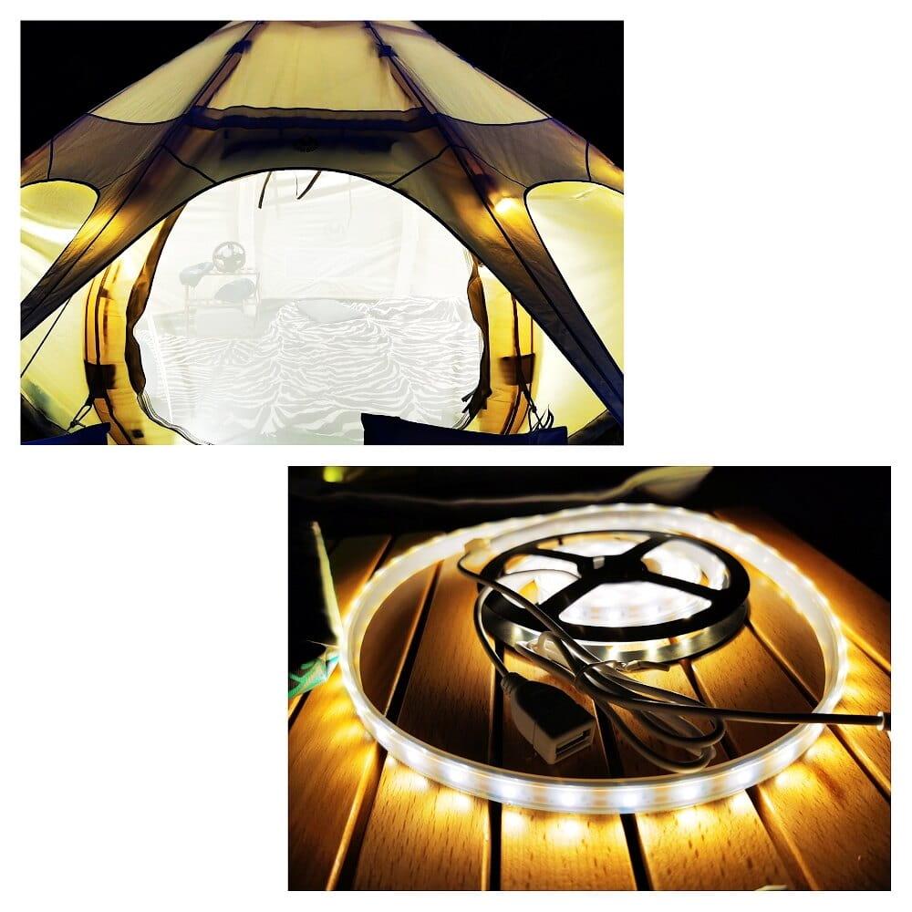 露營燈LED多功能防水帳篷天幕燈帶多種顏色VIDALIDO 3