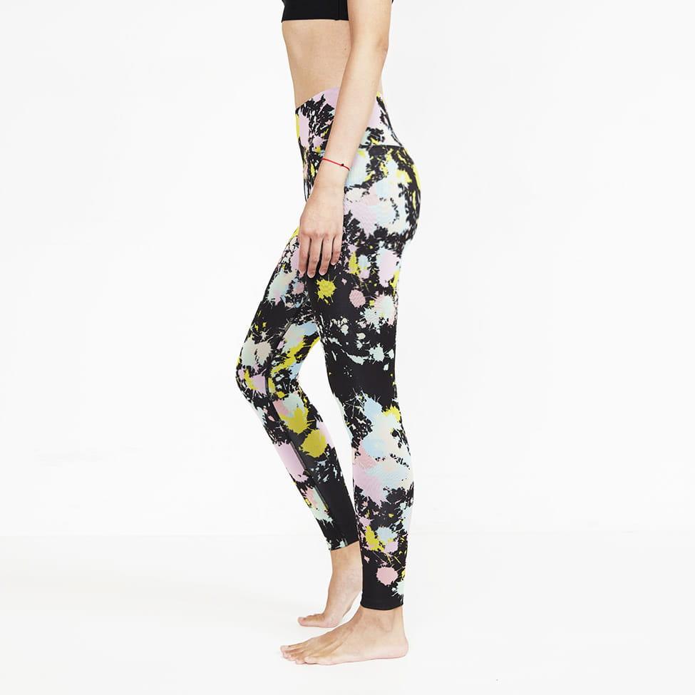 【ELASTI】典莎瑜珈褲(碘紗抗菌除臭機能)-恣意揮灑 3