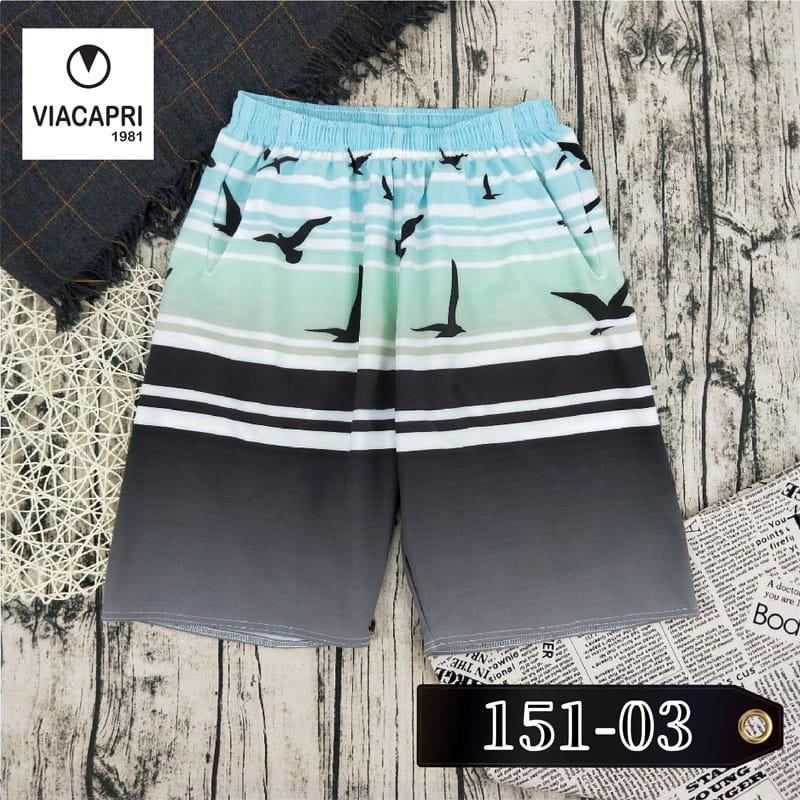 【via1981】休閒海灘褲/彈性舒適/3款任選 3