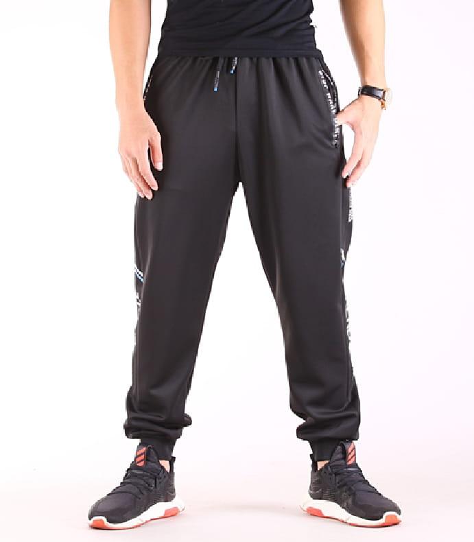 【CS衣舖】輕量運動褲 縮口褲 機能 透氣 鬆緊腰圍 防掉拉鍊口袋 兩色 3