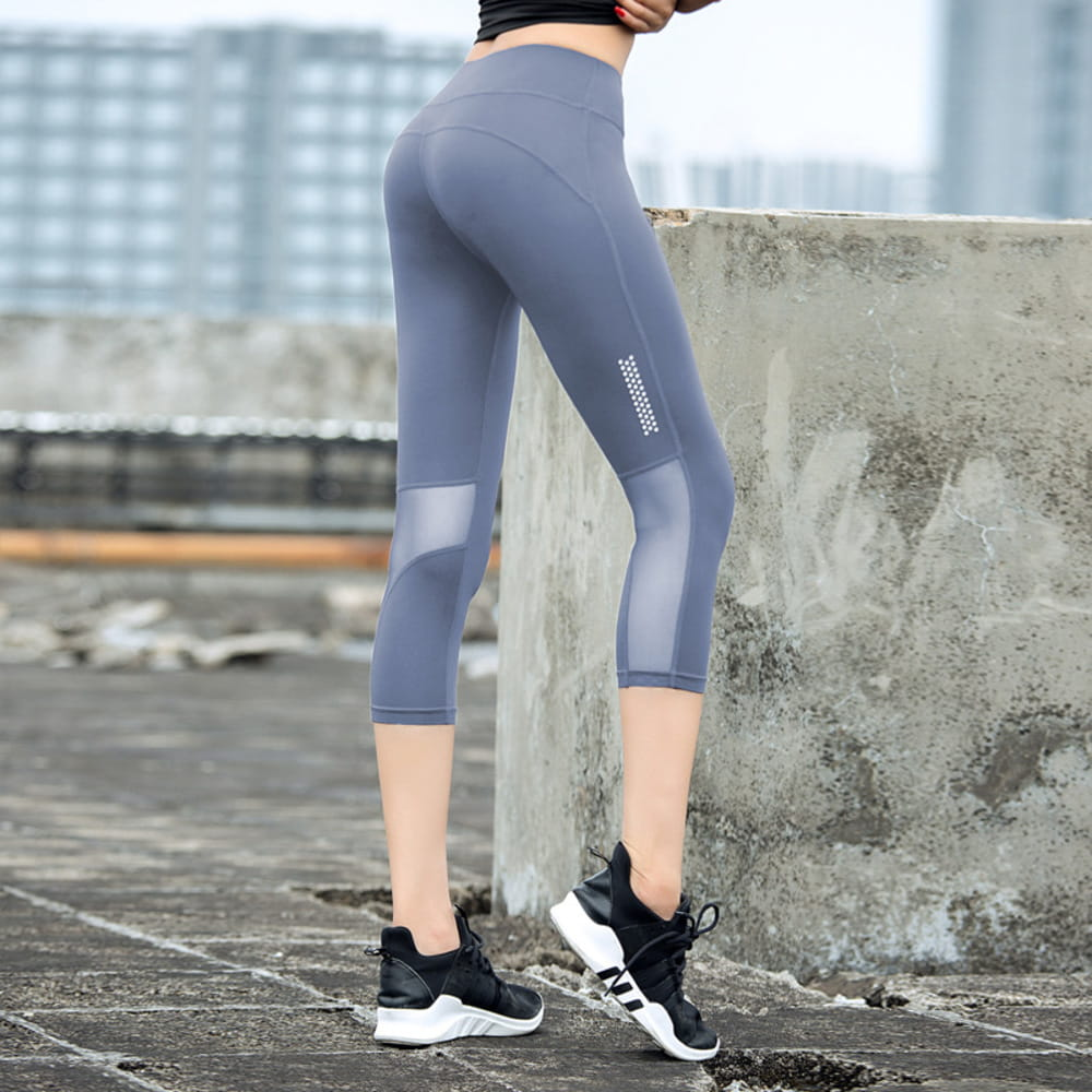 【JAR嚴選】高腰提臀瑜珈健身速乾透氣緊身彈力運動七分褲 11