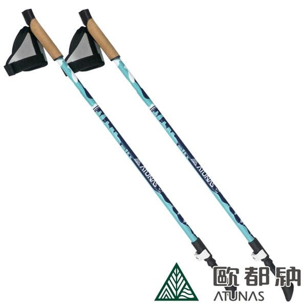 (登山屋)ATUNAS 歐都納二節NORDIC健走杖 A1WSBB05N藍