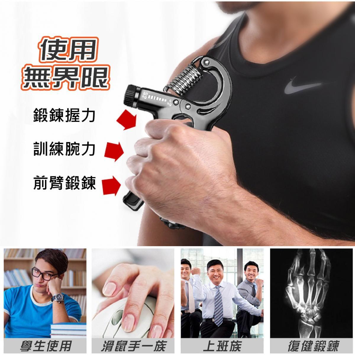可調節式 握力器10~40KG 握力 腕力 握力訓練器 手腕訓練 腕力器 健身器材 紓壓 增肌 5