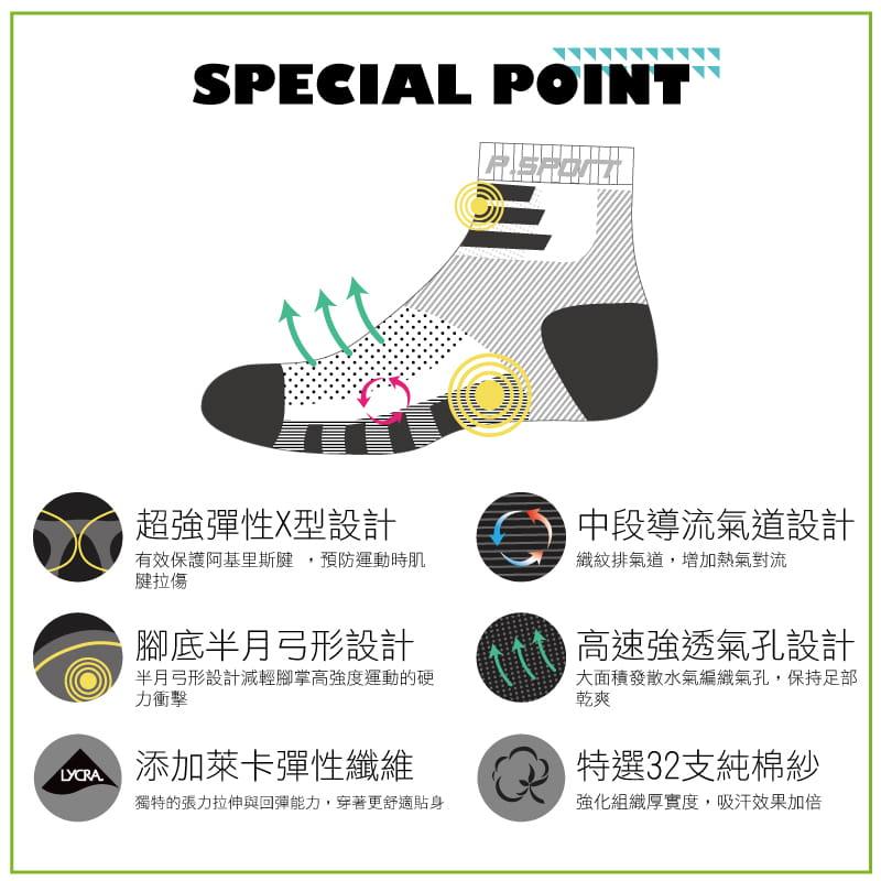 【Peilou】左右腳輕量護足足弓襪(船襪/短襪)(女) 15