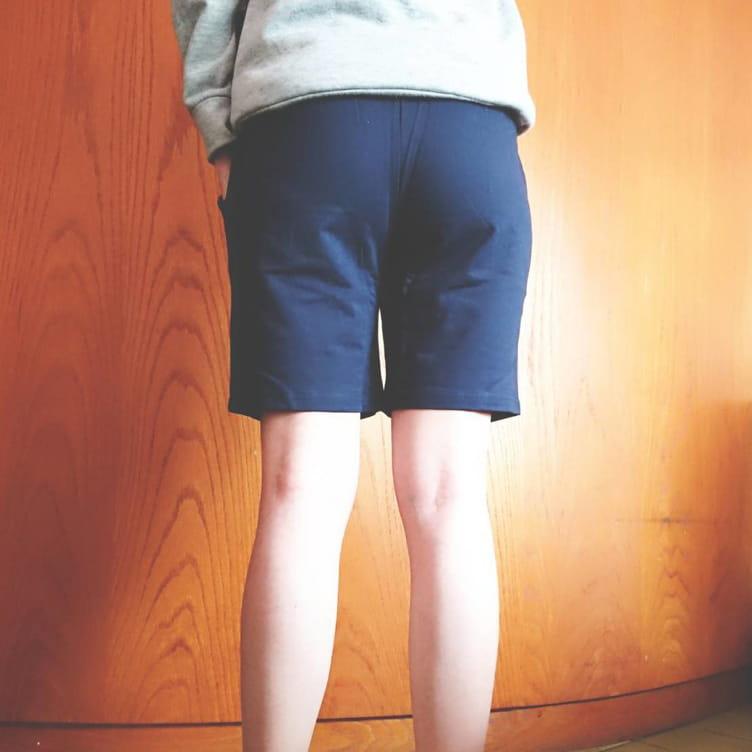 棉質休閒運動短褲 薄款透氣 抽繩男女款 舒適健身褲 8