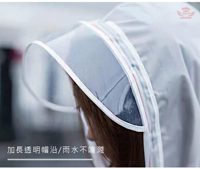 多功能時尚雨衣-英倫風收縮繩設計 多種穿法 可背背包 11