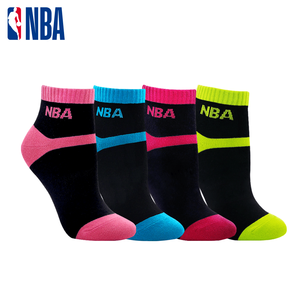 【NBA】 女款百搭平板緹花短襪 0