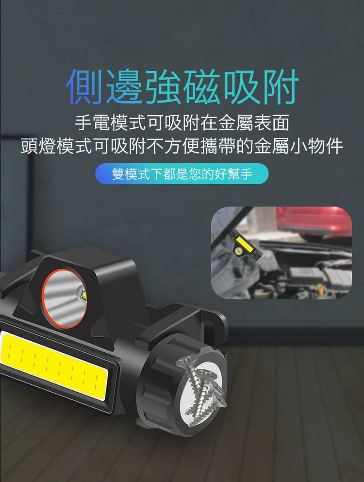 超強光爆亮磁吸兩用頭燈 5