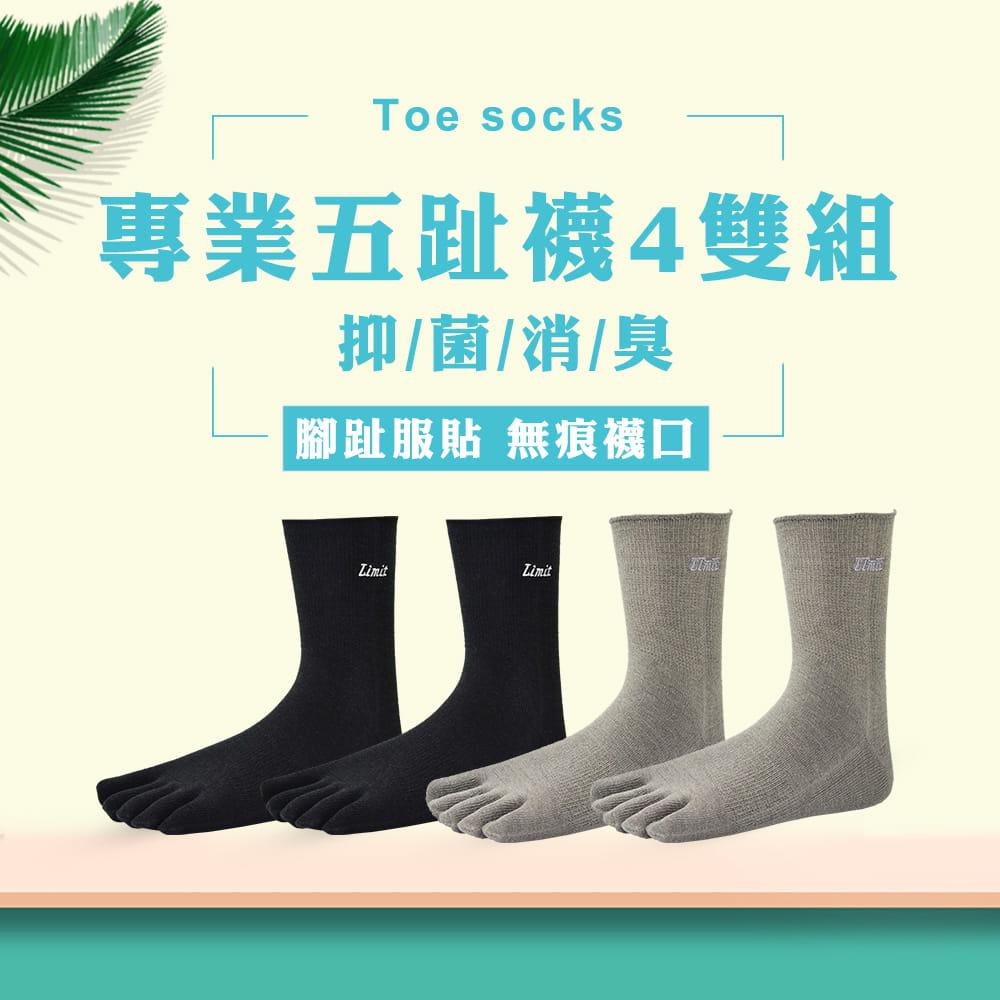 【力美特機能襪】專業五趾襪《4雙入》 0