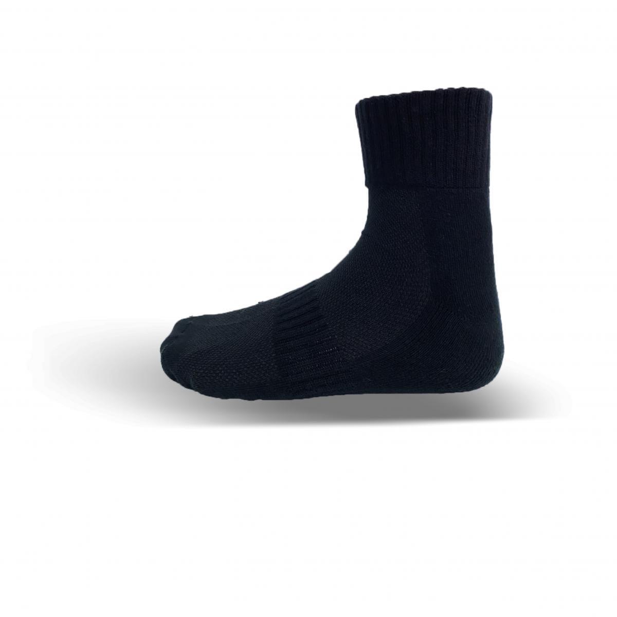 天然棉系列-毛巾厚底短襪(黑) 0