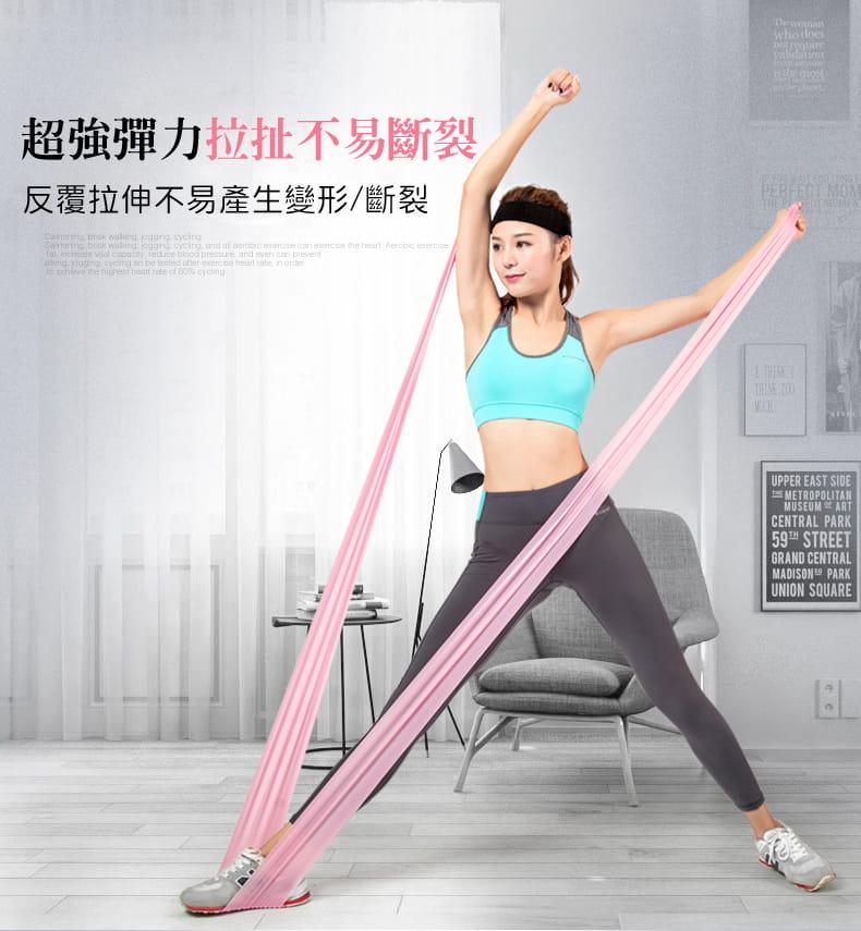加長版超彈力瑜珈健身拉力帶 3