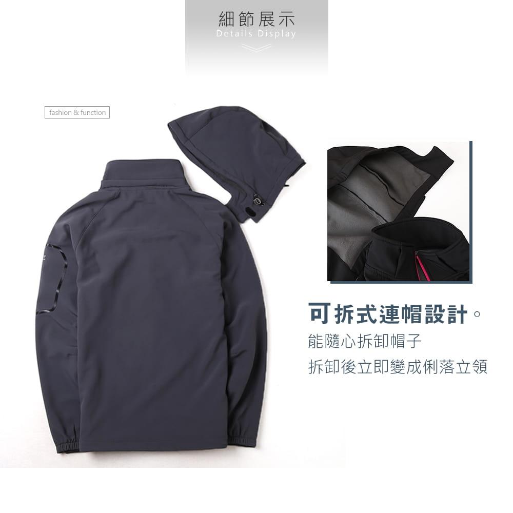 【NEW FORCE】男女款防風聚熱刷毛連帽外套-男女款 4
