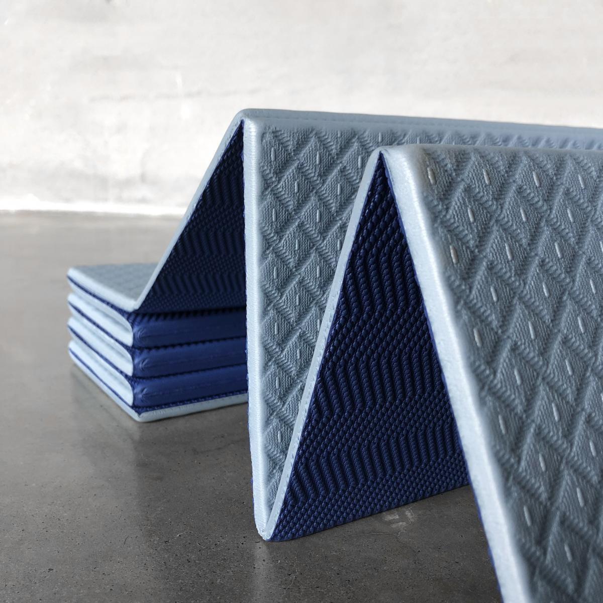 【QMAT】 12折疊瑜珈墊 一般雙色 11