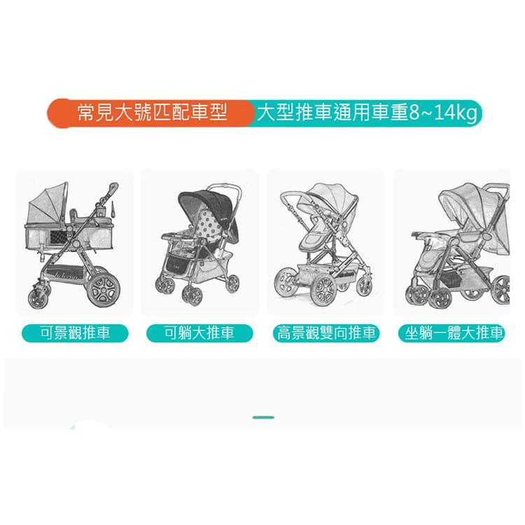 【JAR嚴選】防風防雨嬰兒車雨罩 13