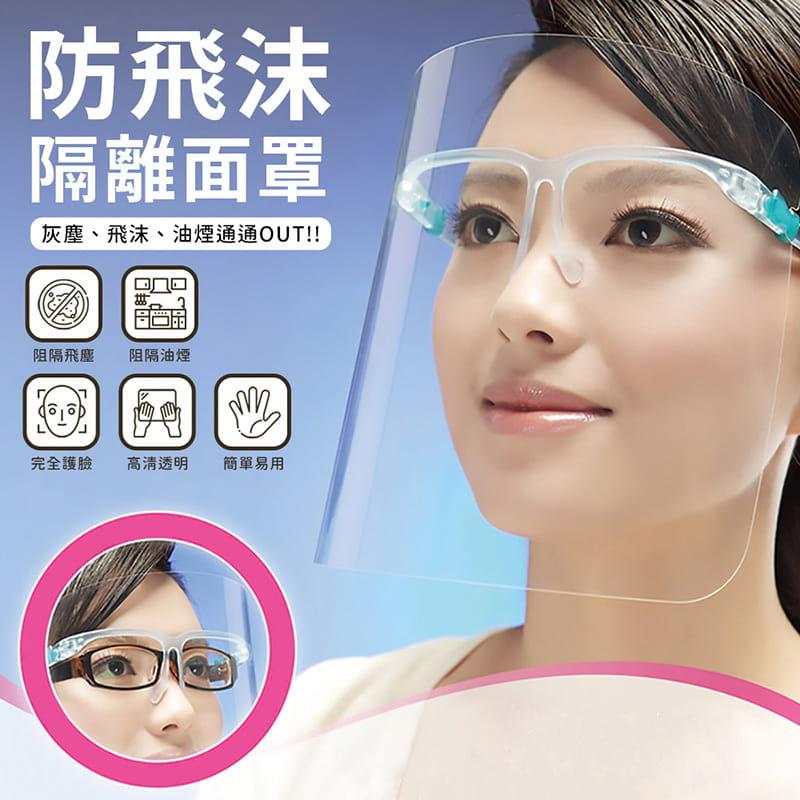 頭戴式防飛沫防護面罩 0