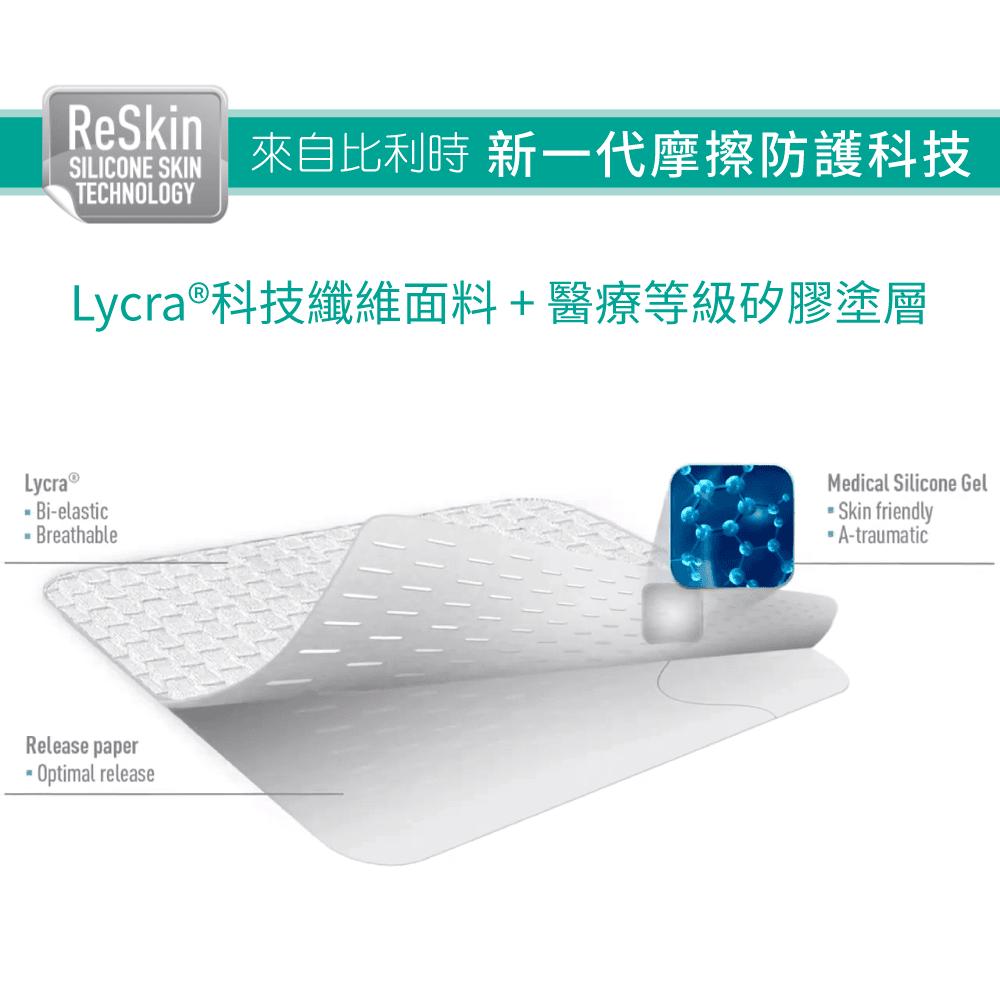 【ReSkin】【防磨專家】矽膠防磨胸貼(白/膚色) 1