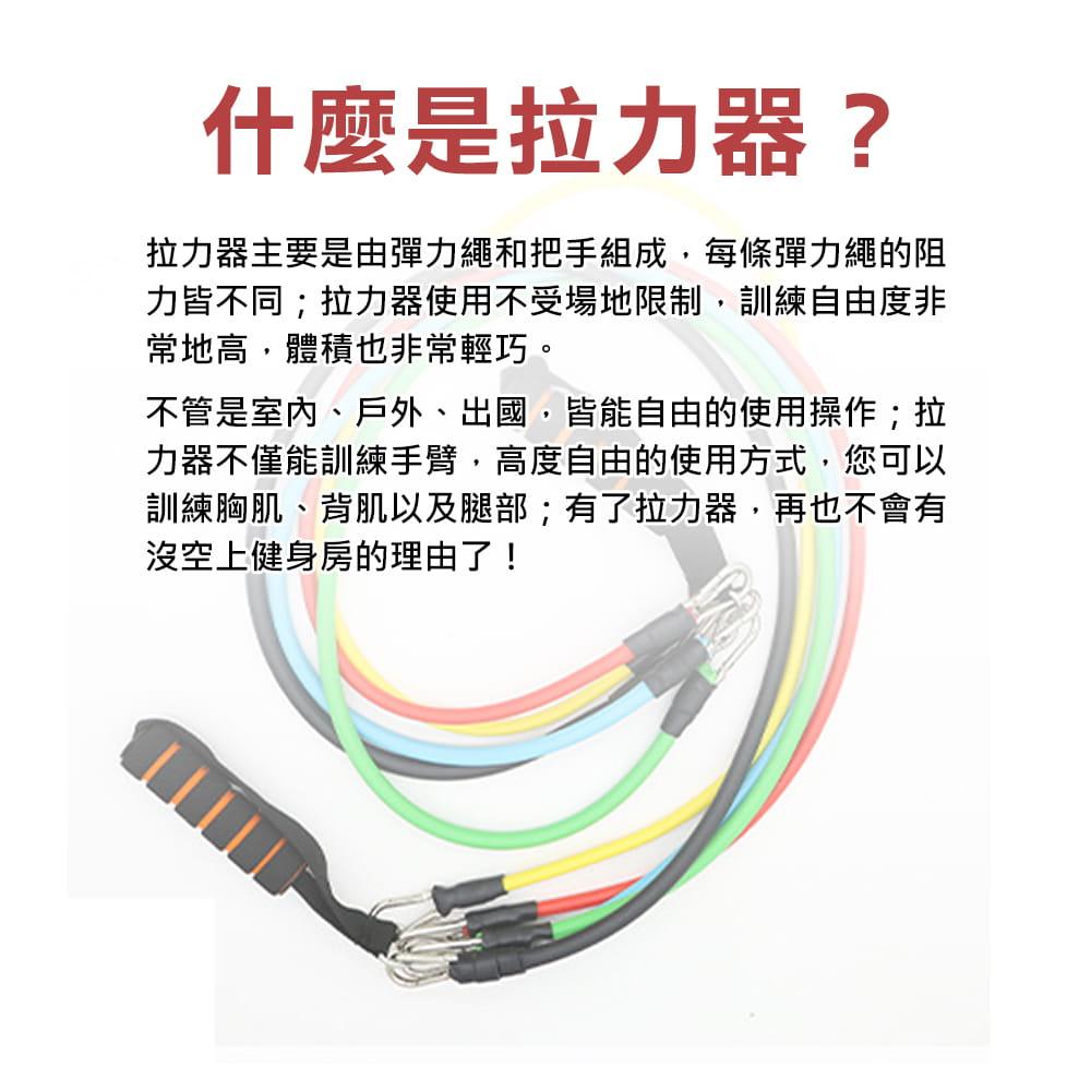健身彈力帶11件組 阻力繩 (10LB~100LB) 1